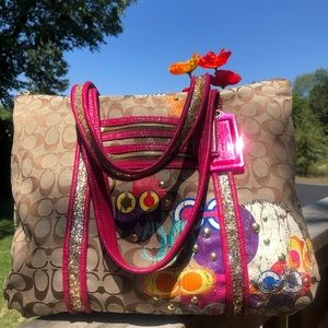 Coach Bag  Poppy Handcrafted Large Multi